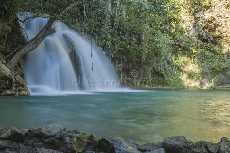Magical Waterfalls of Copalitilla and Llano Grande. Waterfalls of Llano Grande,Huatulco ,Oaxaca México stock photo
