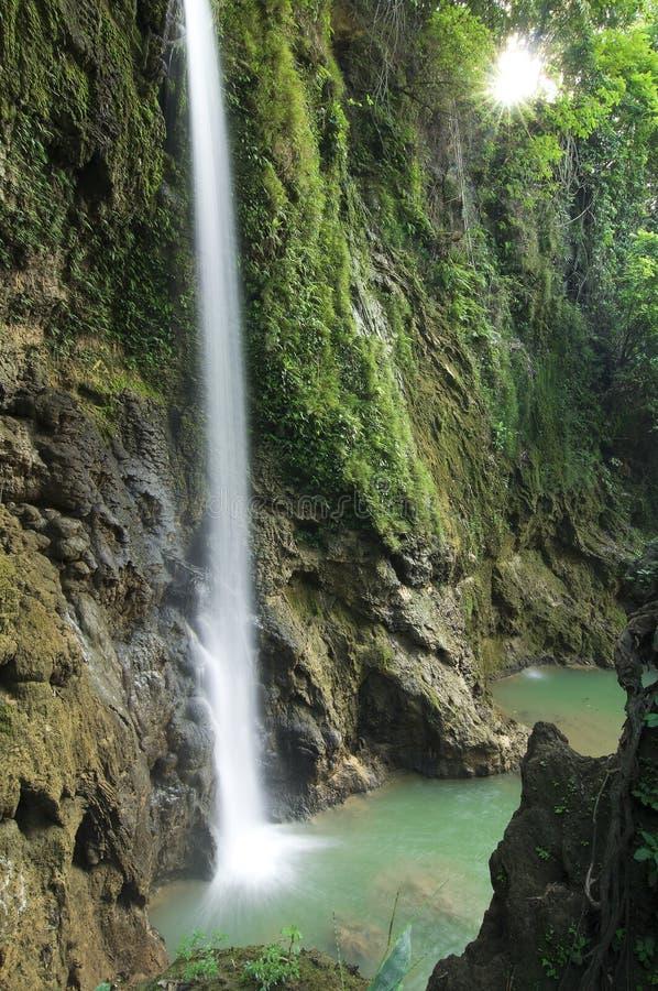 Waterfalls. That location is at Pati Jawa Tengah Indonesia. This waterfall looks very beautiful royalty free stock images