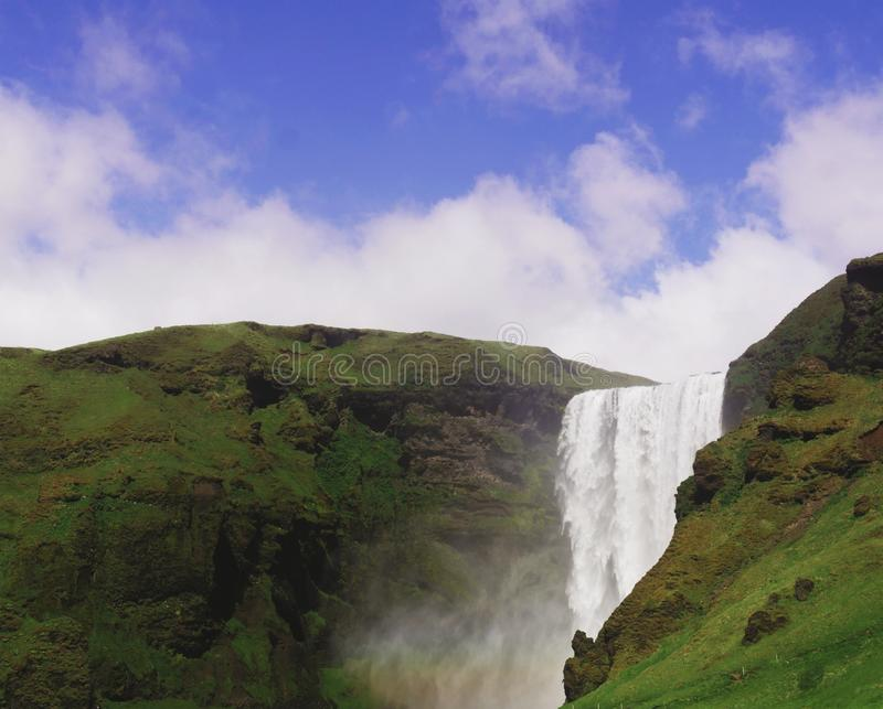 Waterfalls Between Mountains Under Clouds Free Public Domain Cc0 Image
