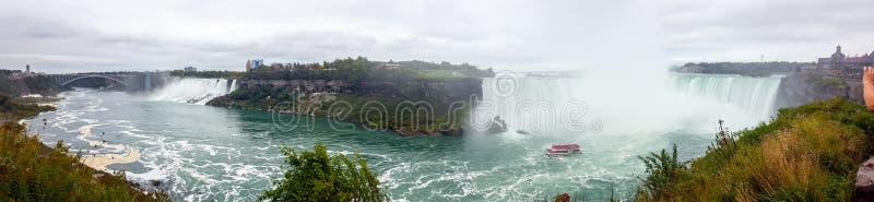 Waterfalls Panorama Landscapes Niagara Falls , Toronto stock photo