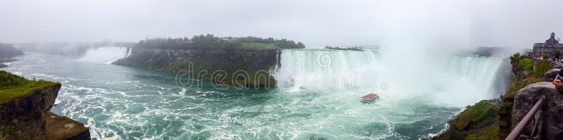 Waterfalls Panorama Landscapes Niagara Falls , Toronto stock image