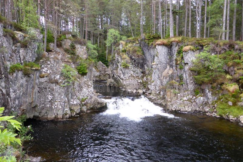 Waterfalls of Pattack, Scotland stock images