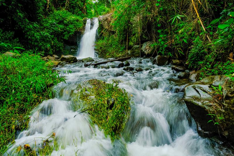 Waterfalls at Phu Soi Dao National Park Thailand stock images