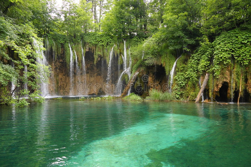 Waterfalls In Plitvice, Croatia Stock Photos