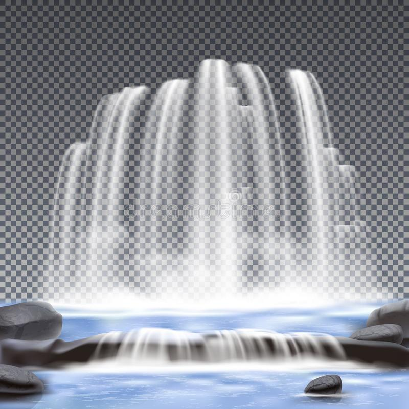 Free Waterfalls Realistic Transparent Background Stock Photo - 108228800