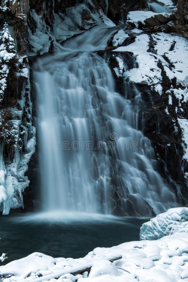 The waterfalls of Riva. In Campo Tures royalty free stock photos
