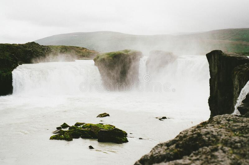 Waterfalls on river royalty free stock images
