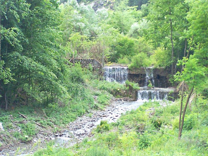 Waterfalls 3. Waterfalls on river rasina in grcak stock images