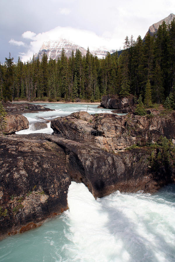 Download Waterfalls In The Rocky Mountains - West Canada Stock Photo - Image: 23072986