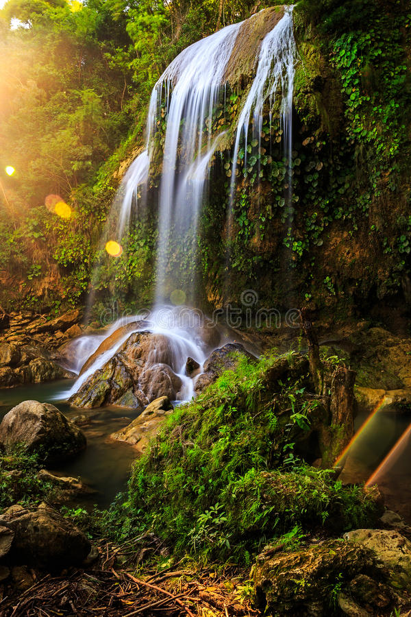 Waterfalls Salto de Soroa, Candelaria stock photos