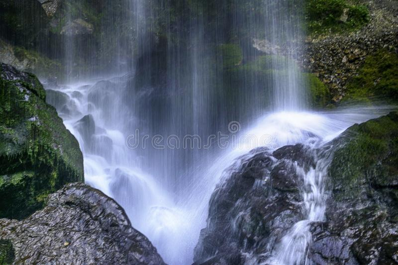 Waterfalls Time Lapse Photography stock photography