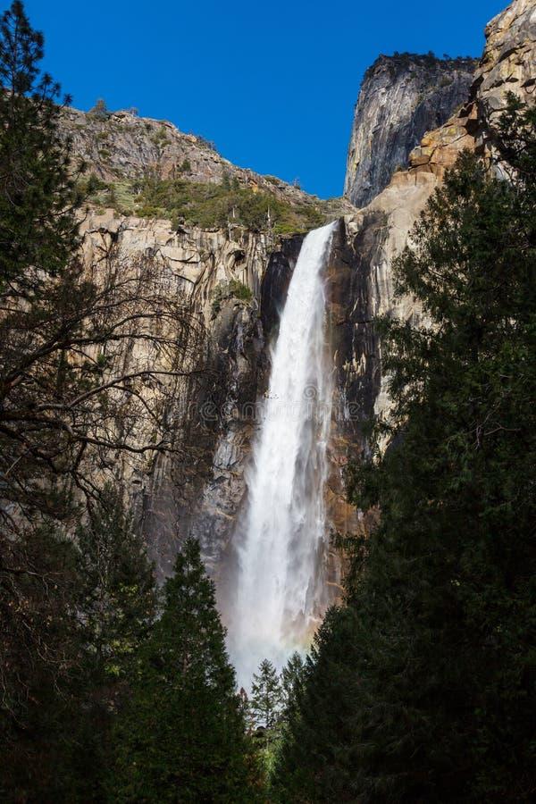Waterfall in Yosemite stock photo