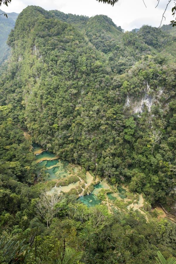 Waterfals Champey Semuc στη Γουατεμάλα στοκ εικόνες με δικαίωμα ελεύθερης χρήσης