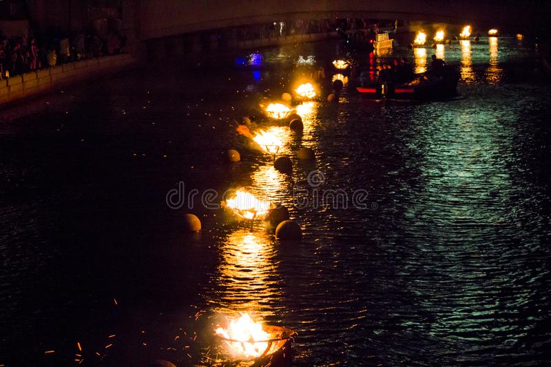WaterFire arde, providência, Rhode - ilha imagem de stock royalty free