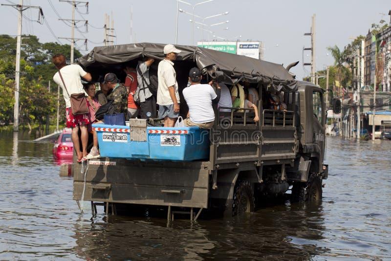 Waterflood katastrof i Thailand fotografering för bildbyråer