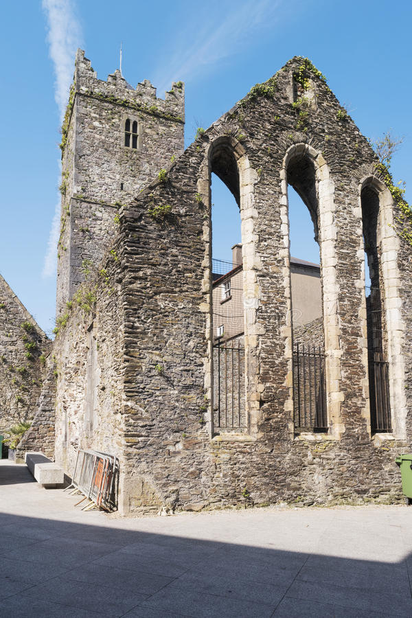 Waterford Franciscan Friary. The remains of medieval franciscan friary in the town of Waterford,Ireland stock photos