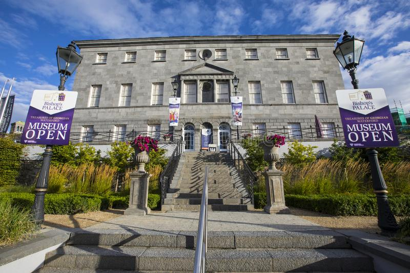Bishops Palace in Waterford. Waterford, Republic of Ireland - August 16th 2018: The exterior of Bishops Palace in the city of Waterford, Republic of Ireland. It stock photography