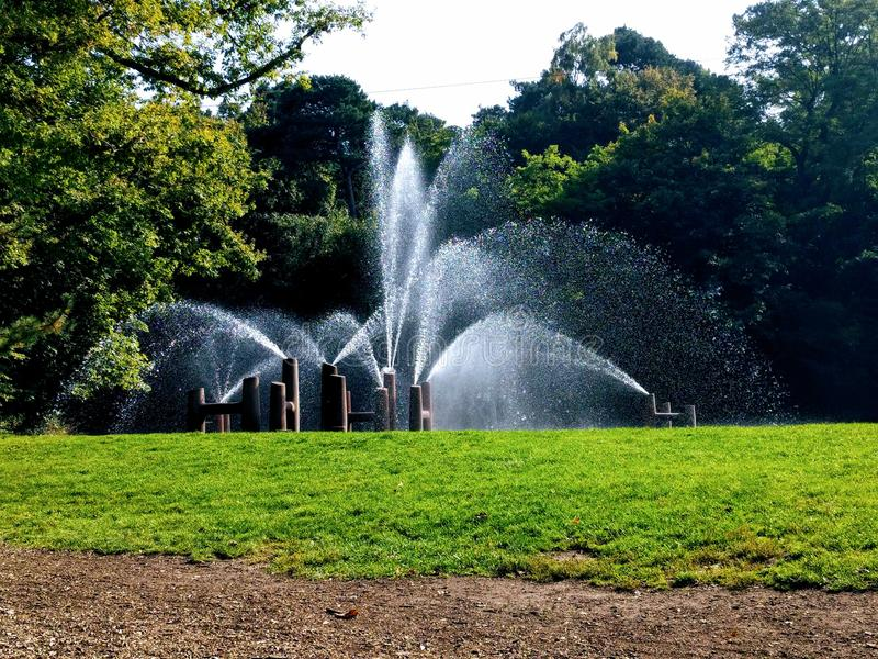 Waterfountain. In the park royalty free stock photos