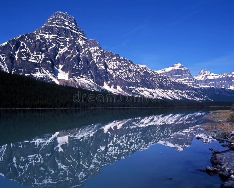 Waterfowl jeziora, Alberta, Kanada. zdjęcie stock
