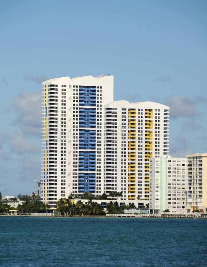 Download Waterfront apartments stock image. Image of tall, florida - 19648035