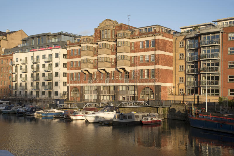 Waterfront apartments Bristol England UK stock photo