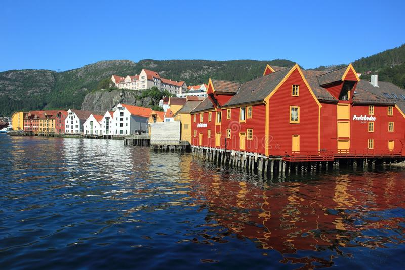 Waterfront in Bergen stock photo