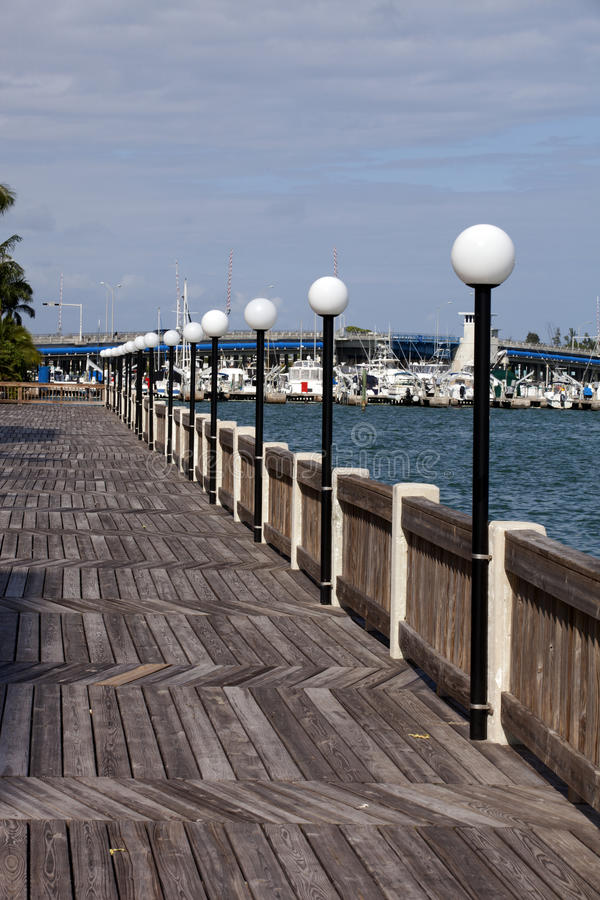 Waterfront Boardwalk royalty free stock images