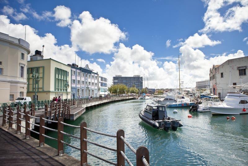 Waterfront in Bridgetown, Barbados. Downtown marina of Bridgetown, Barbados royalty free stock image