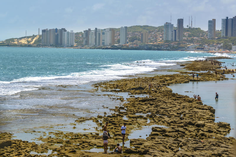 Waterfront Buildings and Beach Natal Brazil stock image