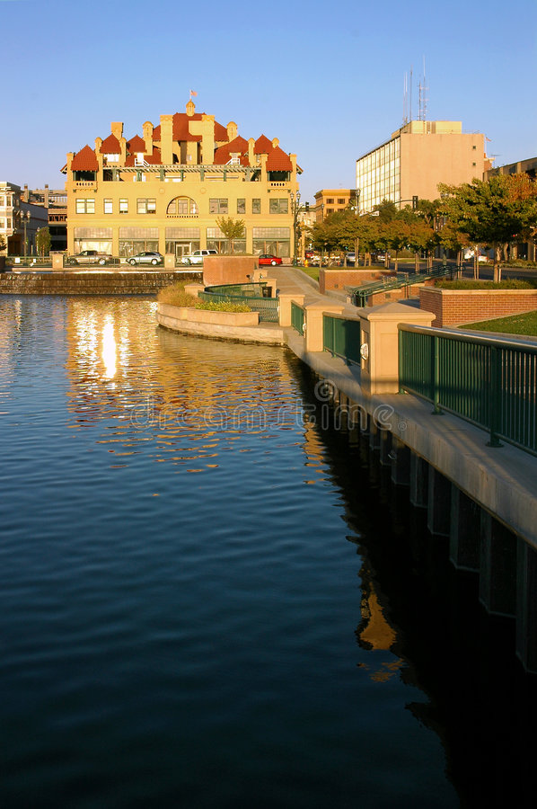 Download Waterfront City Reflection stock image. Image of landscape - 2324053
