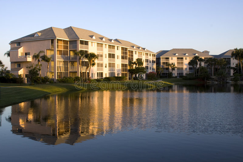 Waterfront Condo stock photography