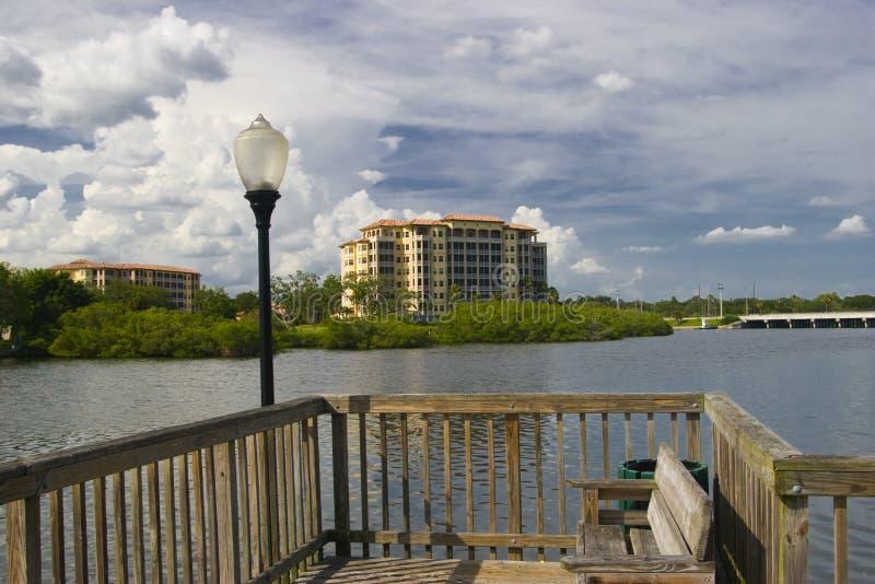 Waterfront Condominium royalty free stock images