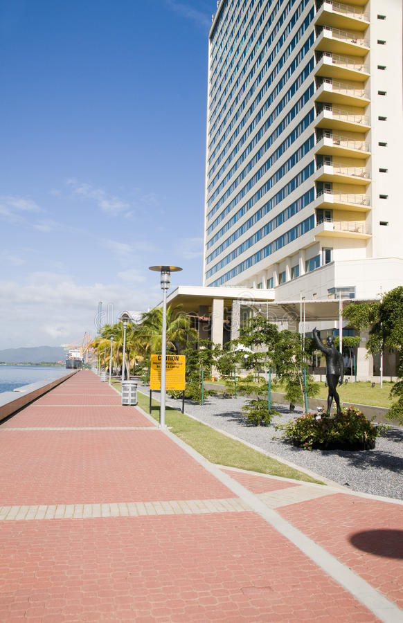 Download Waterfront Development Port Of Spain Trinidad Stock Image - Image of statue, stone: 12120337