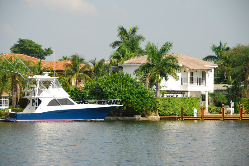 Waterfront Home Royalty Free Stock Image