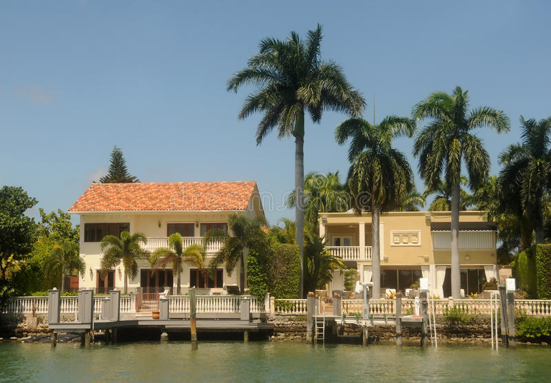 Waterfront homes royalty free stock photo