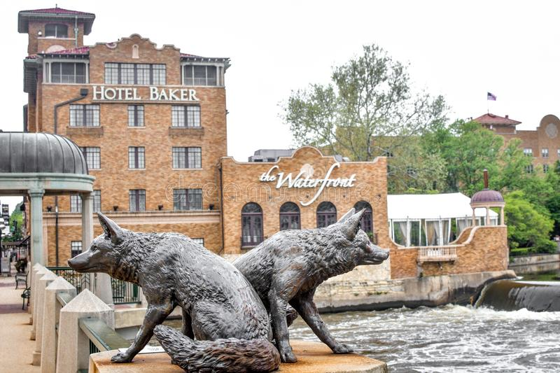 The Waterfront at Hotel Baker in Saint Charles, IL royalty free stock image