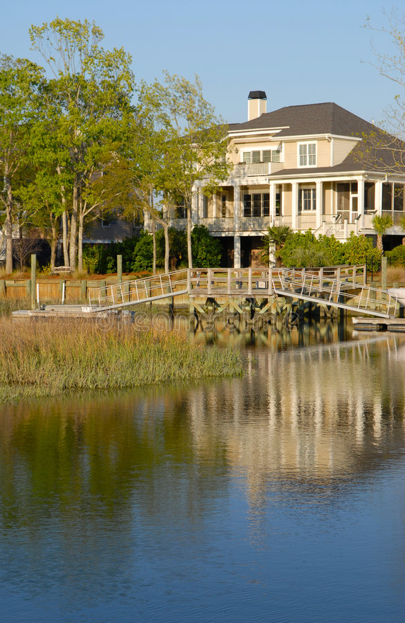 Waterfront House stock photos