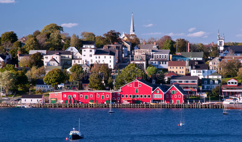 Waterfront, Lunenburg, Nova Scotia, Canada royalty free stock photos