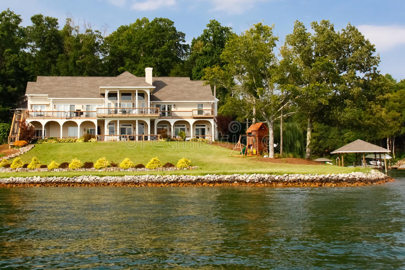 Download Waterfront Mansion Boat House, Play Set Stock Photo - Image: 20906000
