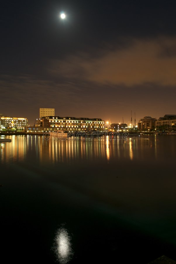 Waterfront at Night royalty free stock image