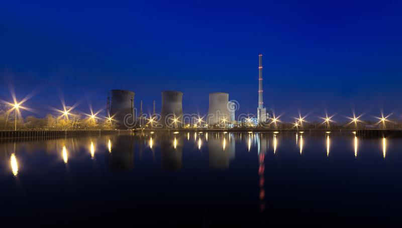 Waterfront At Night stock image
