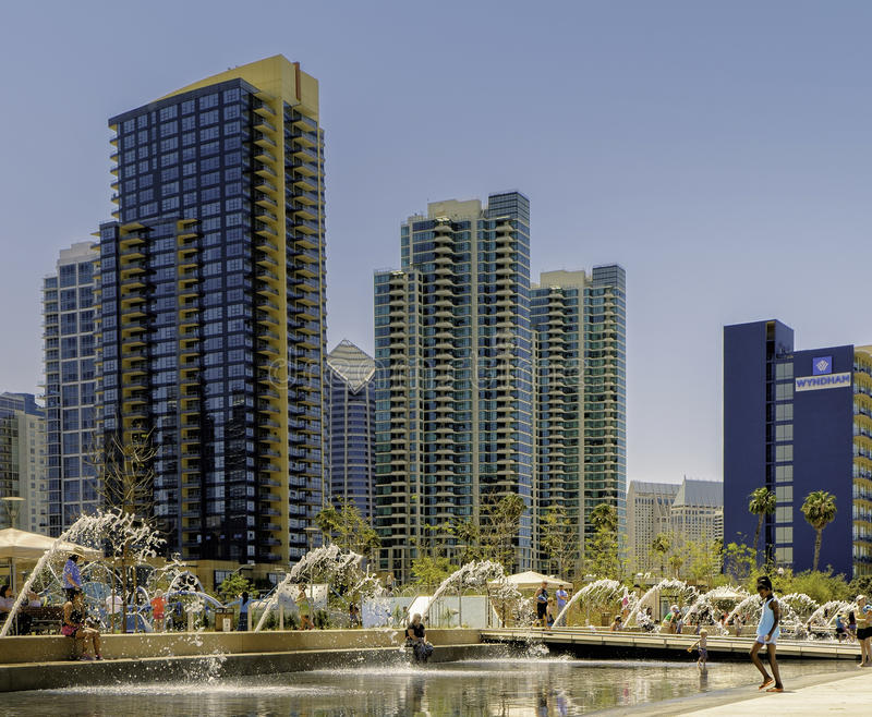 Waterfront Park, Downtown San Diego, California royalty free stock images