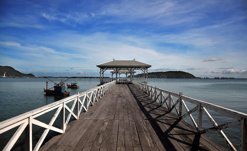 Waterfront Pavilion, Si Chang Island - Thailand royalty free stock image