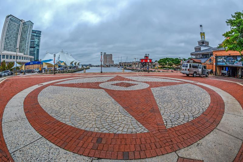 Waterfront Promenade at the Inner Harbor, Baltimore, USA stock photography