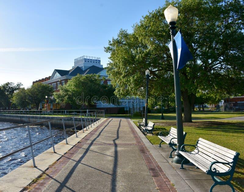 Waterfront Promenade in New Bern, North Carolina royalty free stock photos