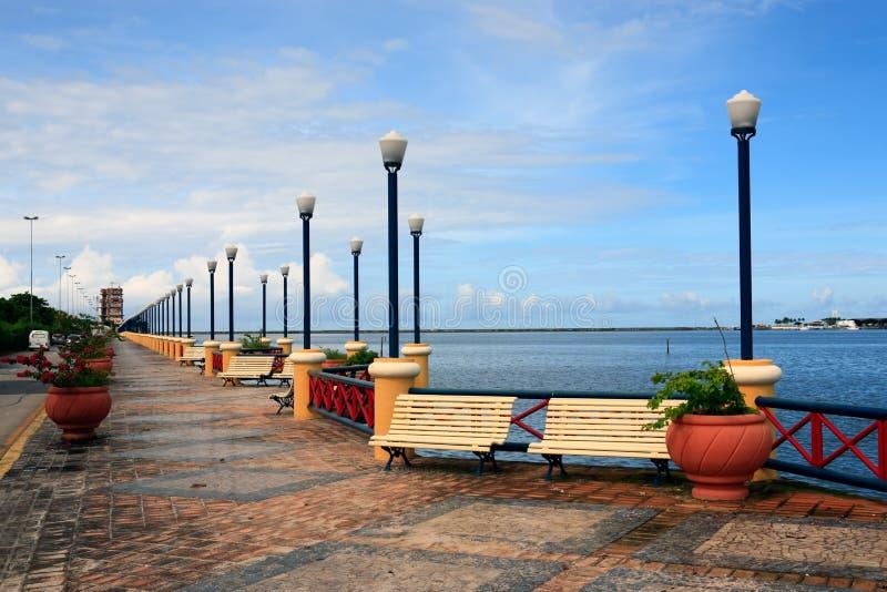 Waterfront promenade recife. Waterfront promenade in recife pernambuco state brazil royalty free stock photo