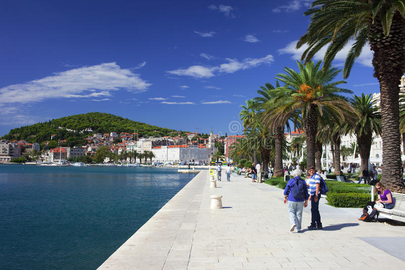 Waterfront Promenade in Split royalty free stock photography