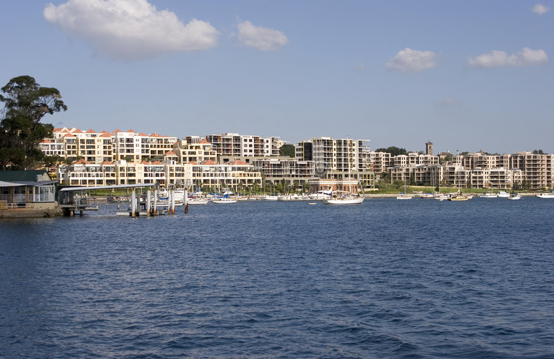 Download Waterfront Properties stock photo. Image of ships, waterfront - 160340