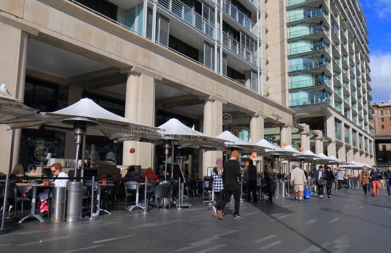 Waterfront restaurant dining Sydney Australia royalty free stock photography