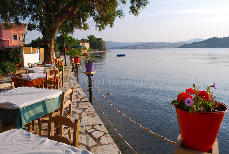Waterfront Restaurant Ligia royalty free stock photos